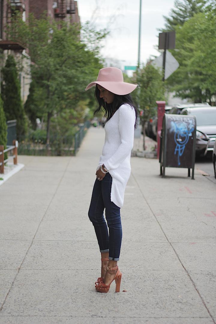 Pink floppy hat